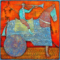 Picador´s Blues  2007, Öl auf Leinwand, 70x70  Wlad Safronow  Your Art Show