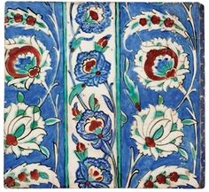 Iznik pottery tile, Ottoman (c. 1590) - (Christies)