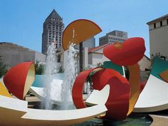 Image result for claes oldenburg Dropped Bowl with Scattered Slices and Peels