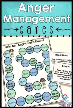 These anger management games are a fun way to help your elementary students learn to recognize their anger, understand their anger triggers, and develop positive coping skills. These 3 games are perfect for anger management small groups or lessons! Coping Skills List, Coping Skills Activities, Emotions Activities, Counseling Activities, School Counseling, Emotions Preschool, Group Counseling, Group Activities, Life Skills