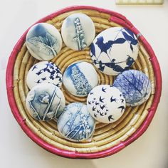 Ceramic artist Clare Mahoney makes these pebbles and touch stones.