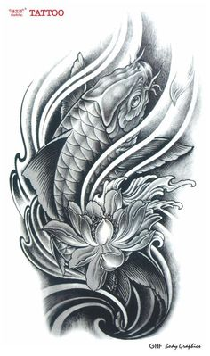 koi fish lotus flower tattoos google search diseños tattoo search ...