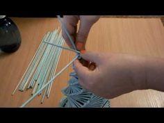 плетение из газет елка - YouTube