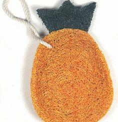 Pineapple Natural Loofah Kitchen Scrubber  - Compostable! Perfect Zero Waste Alternative to the Kitchen Sponge!