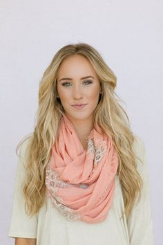 Hey, I found this really awesome Etsy listing at http://www.etsy.com/listing/129876528/linen-lace-infinity-scarf-in-coral-loop