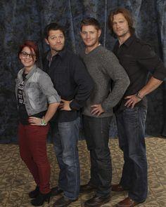Jensen Ackles And Misha Collins   Me, Misha Collins, Jensen Ackles and Jared Padalecki. Supernatural ...