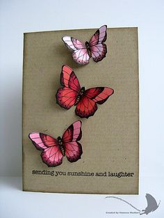 Butterfly Card by @Vanessa Menhorn #copics