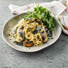 Mushroom Carbonara & Rocket Salad  Recipe   Gousto