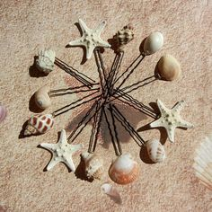 Starfish Seashell Hairpins - Mermaid's Bridal Treasure. $30.00, via Etsy.