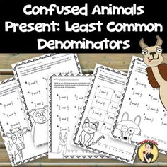 Least Common Denominator (No Prep Worksheets) Least Common Denominator, Fractions Worksheets, Math Vocabulary, Equivalent Fractions, Student Engagement, Matching Games, Google Classroom, Fun Math, Math Resources