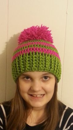 #Crochet Ribbed Striped Beanie Hat #TUTORIAL How to crochet a beanie hat