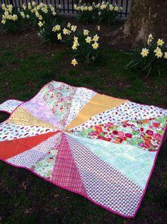 Clementine // Sunburst Picnic Blanket by Dear Stella