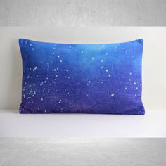 Galaxy Pillow Cover, Pillow Cover, Lumbar Pillow Cover, Decorative Pillow Cover, Pillow Case, Cushion Cover, Linen Pillow Cover by SamanthaEmma on Etsy https://www.etsy.com/listing/190516790/galaxy-pillow-cover-pillow-cover-lumbar