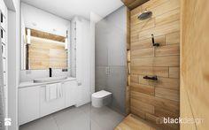 Łazienka męska, dla młodego singla - Mała łazienka w bloku bez okna, styl nowoczesny - zdjęcie od black design