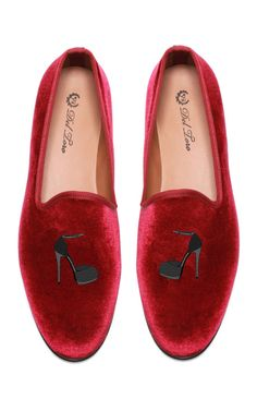 Del Toro Prince Albert Stiletto Slipper Loafers