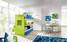 Frisches Kinderzimmer Weiße Wandgestaltung