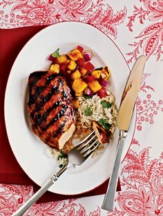 Marinating: Hawaiian Chicken - 50 Healthy Chicken Breast Recipes - Cooking Light