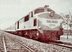 1950s. The Sunlander, the long-distance train that travelled between Brisbane and Cairns.