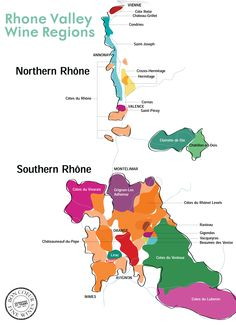A quick and easy guide to the wine regions of Rhone www.bcfw.co.uk