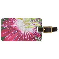 Pink Passion Flower Luggage Tag - accessories accessory gift idea stylish unique custom
