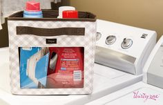 The Your Way Junior Cube is the perfect place to keep laundry detergent neat and organized!