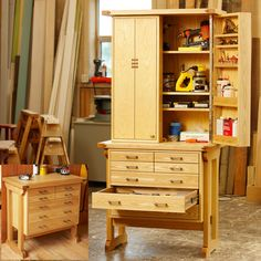 Tool Chest, Cabinet Woodworking Plan, Shop Project Plan | WOOD Store