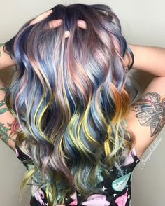 "1,420 Likes, 27 Comments - San Francisco Hair Stylist (@hairpaintedwithlove) on Instagram: ""My #metallicmuse for @joico contest! my inspo for this was the sunrise this morning! See pic posted…"""