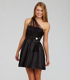 Hailey Logan One-Shoulder Mesh Dress   Dillard's Mobile