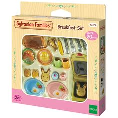 Toys For Girls, Kids Toys, Sylvania Families, Calico Critters Families, Lps Accessories, Real Life Baby Dolls, Diy Doll Miniatures, Chelsea Doll, Breakfast Set