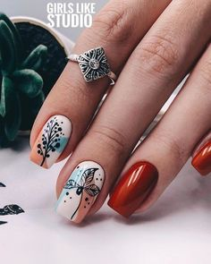 """The Little Merman but make it DEAD inspired by the much darker original fairy tale The Little Mermaid"""" written Hans Christian Andersen Stylish Nails, Trendy Nails, Nailart, November Nails, Pedicure Nail Art, Fall Nail Designs, Creative Nails, Perfect Nails, Simple Nails"""