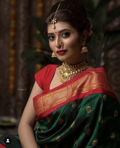 hairstyle for women Marathi Bride, Marathi Nath, Bengali Bride, Desi Bride, Nauvari Saree, Banarsi Saree, Silk Kurti, Kanjivaram Sarees, Saree Poses
