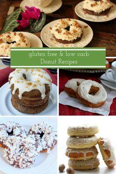 14 Gluten Free, Low Carb Donut Recipes- sugar free, healthy, THM, keto