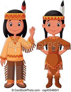 Couple Cartoon, Native Indian, Eps Vector, American Indians, Tigger, Nativity, Disney Characters, Fictional Characters, Felt