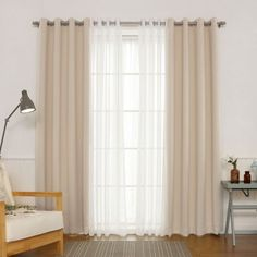 Best Home Fashion Silver Grommet Solid Blackout Mix and Match Curtains - Set of . Best Home Fashion Silver Grommet Solid Blackout Mix and Match Curtains – Set of 4 Beige Drapes And Blinds, Modern Curtains, Grommet Curtains, Sheer Curtains, Panel Curtains, Blackout Curtains, Velvet Drapes, Drapery, Furniture Makeover