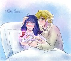 Aww they both have their wedding rings, and Adrien has his miraculous