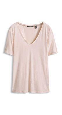 Luxury T-paita silkkiä, V-pääntiellä