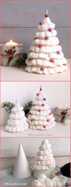 Crochet Ruffle Around Christmas Tree Free Pattern - Crochet Christmas Tree Free Patterns Crochet Christmas Tree Free Patterns for Holiday Decoration and Gifts to Family and Friends, crocodile stitch Christmas tree, Granny Square, Circle Applique Crochet Christmas Decorations, Christmas Tree Pattern, Crochet Christmas Ornaments, Crochet Decoration, Christmas Tree Crafts, Noel Christmas, Free Christmas Crochet Patterns, Tree Decorations, Simple Christmas