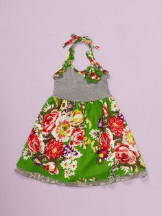 Baby Nay Emerald Rose Halter Dress