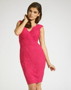 Lipsy Lace V Neck Bodycon Dress