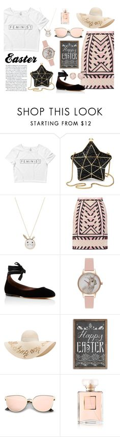 """FeminEaster"" by wearyourdissent on Polyvore featuring Aspinal of London, Accessorize, Temperley London, Tabitha Simmons, Olivia Burton, Eugenia Kim, Chanel, Monica Vinader and feminist"