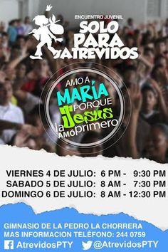 """Estaremos transmitiendo el Encuentro Juvenil """"Solo para atrevidos"""" del 4 al 6 de julio, en directo desde el Gimnasio de la Escuela Pedro Pablo Sánchez en la Chorrera. No te lo pierdas! #SPA2014"""