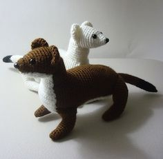 Ermine Stoat Short Tailed Weasel - $5.00 by Susan Burkhart of Ooh Look It's A Rabbit | Woodland Creatures - Animal Crochet Pattern Round Up - Rebeckah's Treasures