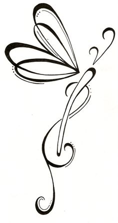 Simple Dragonfly Tattoo