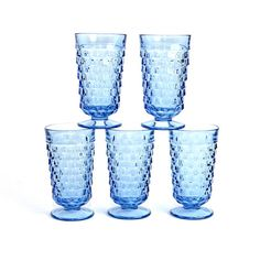 Ice Blue Glass Tumblers by Indiana Glass Company by OneRustyNail, $29.95