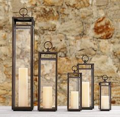 Santorini Square Lanterns – Weathered Bronze ** check size on site of wall to place lanterns on