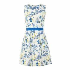 Uttam Boutique Black Willow print waistband dress- at Debenhams.com £60