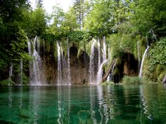lake nation, nation park, waterfalls, place place, croatia