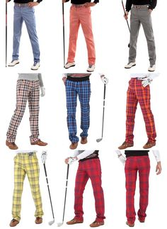 Mens plaid golf pants for men stretch comfortable tartan check Activity trousers #nyfashioncity #Golfpants