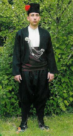 Traditional man's costume, beginning of the 20th century, village of Cheshnigirovo, Plovdiv region (Bulgaria).