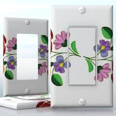 DIY Do It Yourself Home Decor - Easy to apply wall plate wraps | Hungarian Folklore  Beautiful flower motif  wallplate skin sticker for 1 Gang Decora LightSwitch | On SALE now only $3.95